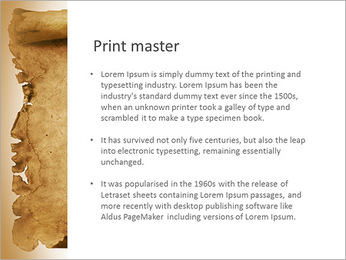 Ancient Papyrus PowerPoint Template
