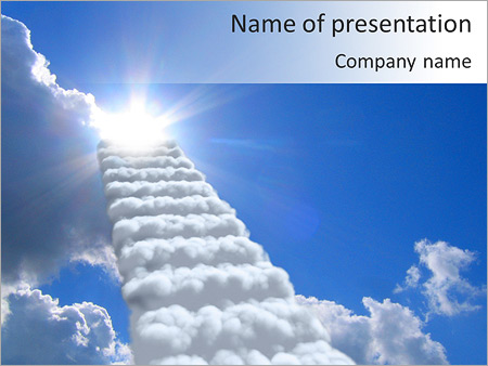 Reach Heaven Powerpoint Template Infographics Slides
