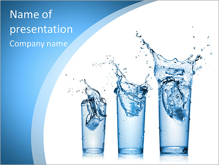Glass Of Water Powerpoint Template Infographics Slides