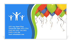 Birthday Balloon Business Card Template
