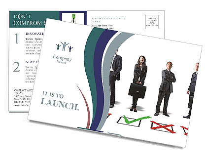 Selected Candidat Postcard Template