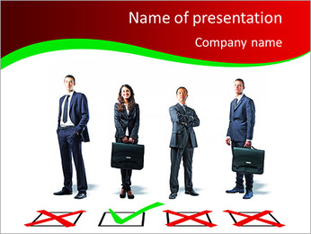 Selected Candidat PowerPoint Template