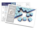 Blue Square Postcard Template