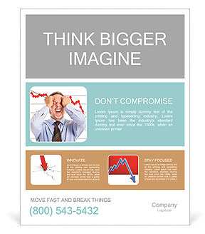 Regress In Business Poster Template