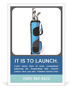 高尔夫球设备 广告模板