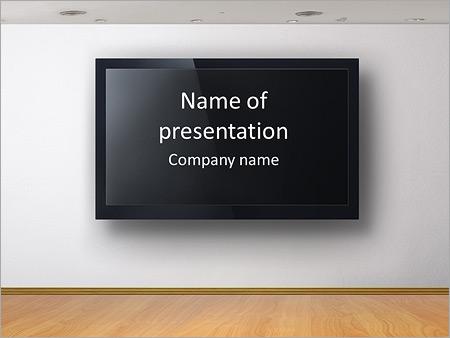 Tv Screen Powerpoint Template Backgrounds Google Slides Id 0000006732 Smiletemplates Com