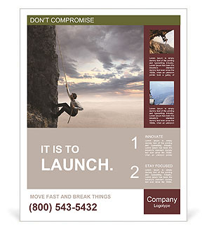 Extreme Rock Climbing Poster Template