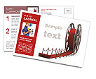 Red Curpet Postcard Template