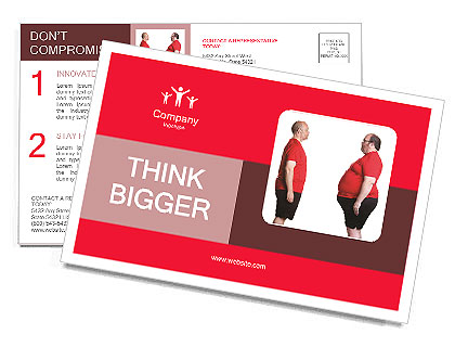 Lose Weight Postcard Template
