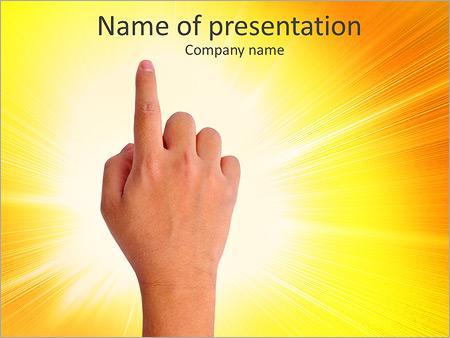 手指点 PowerPoint演示模板