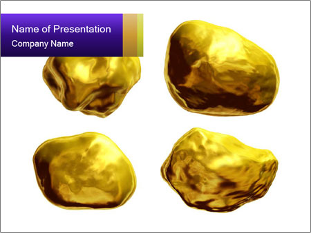 Hoard of Gold PowerPoint Template