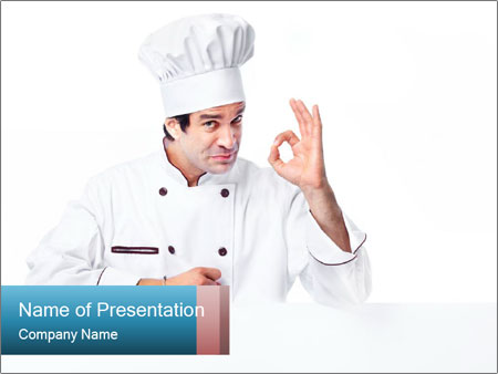 Confident Chef Cook PowerPoint Template