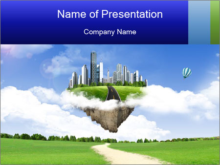 City Illusion PowerPoint Template