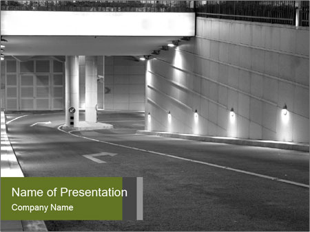 Drive to Underground Parking PowerPoint Template