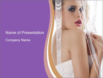 Romantic Female Look PowerPoint Template