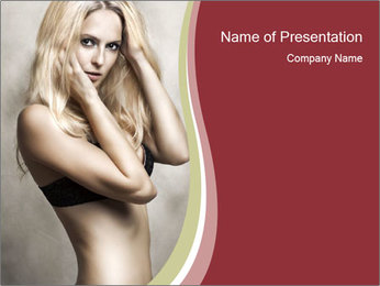 Naked Blondie PowerPoint Template
