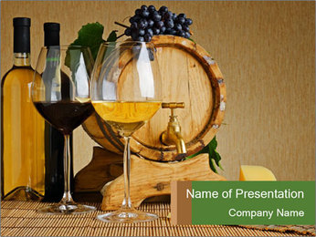 Luxury Wine and Cheese PowerPoint Template