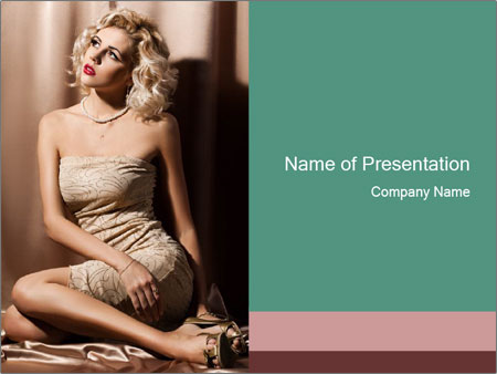 New Cocktail Dress PowerPoint Template
