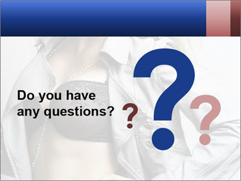 Female Lingerie Model PowerPoint Template