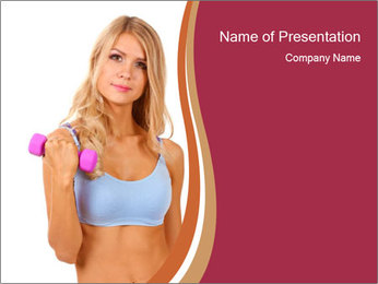 Woman Wearing Sporty Bra PowerPoint Template