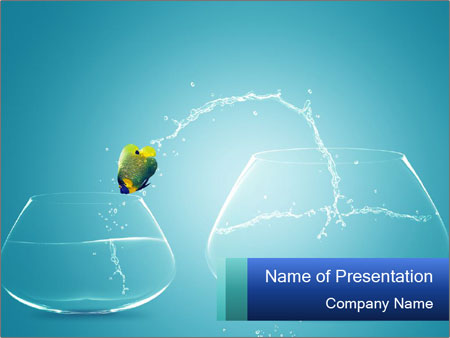 Crazy Jumping Fish PowerPoint Template