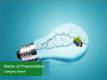 Fish Inside Light Bulb PowerPoint Template