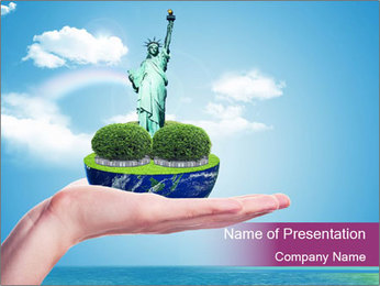 Trip to the USA Plantillas de Presentaciones PowerPoint
