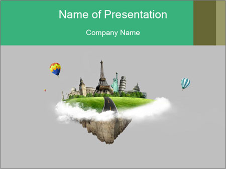 Tour to Europe PowerPoint Template