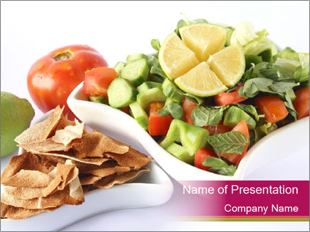 Tasty Lebanese Salad PowerPoint Template