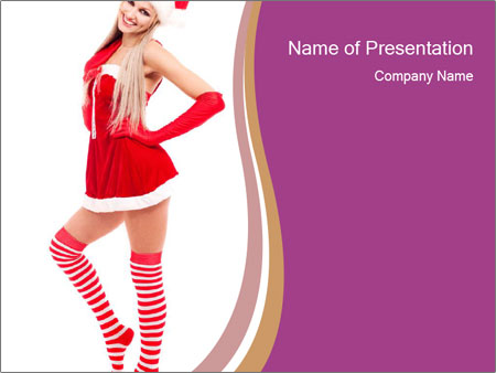 Santa Clause Promoter PowerPoint Template