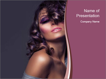 Curly Fashion Model PowerPoint Template