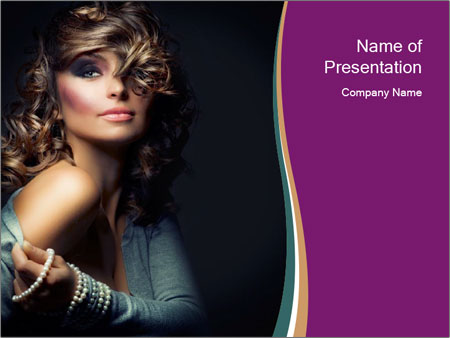 Curly Model PowerPoint Template