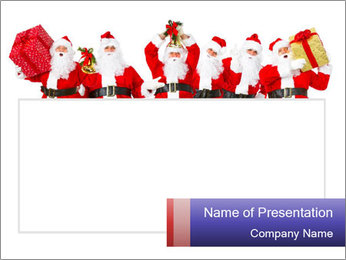 Party for Santa Clauses PowerPoint Template