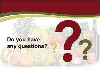 Healthy Food on the Table PowerPoint Template