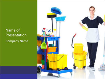 Hardworking Cleaning Lady PowerPoint Template