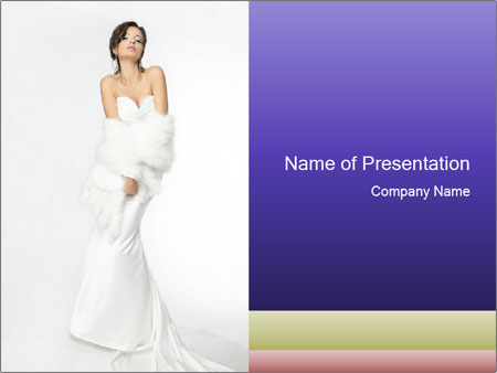 Elegant Wedding Dress PowerPoint Template