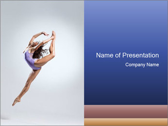 Flying Acrobat Girl PowerPoint Template