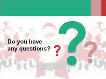 Crowd of Santa  Clauses PowerPoint Template
