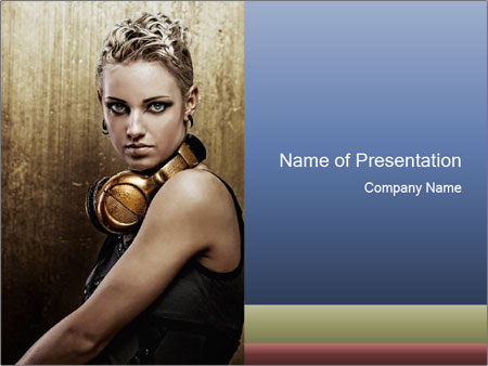 Modern DJ Girl PowerPoint Template