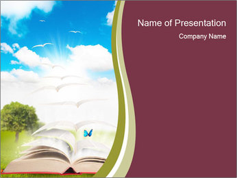 Reading During Summer Day PowerPoint Template