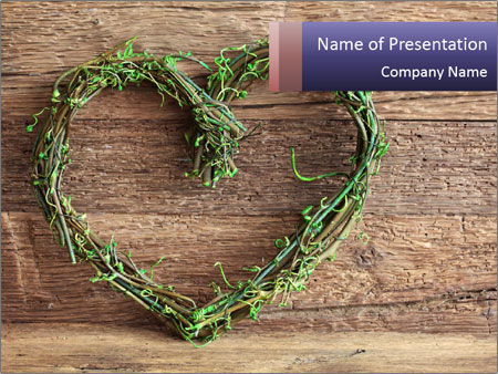 Grass Wreath PowerPoint Template