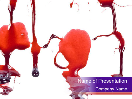 Blood Dripping on the Wall PowerPoint Template