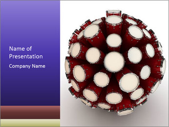 Abstract Drum Sphere PowerPoint Template