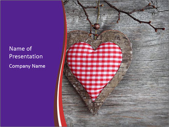 Handmade Heart for St. Valentine Day PowerPoint Template