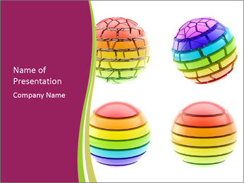 Four Colorful Spheres PowerPoint Template