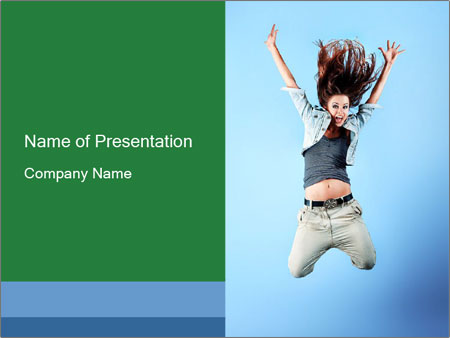 Crazy Teenager PowerPoint Template