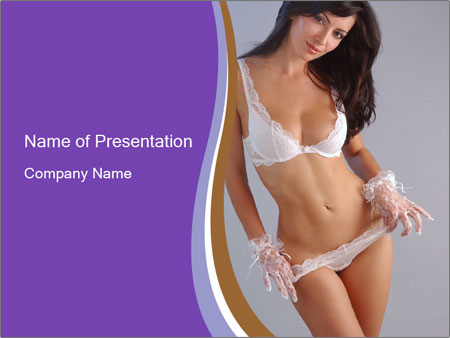Perfect White Lingerie PowerPoint Template