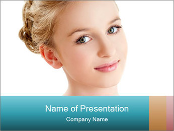 Tender Young Girl PowerPoint Template