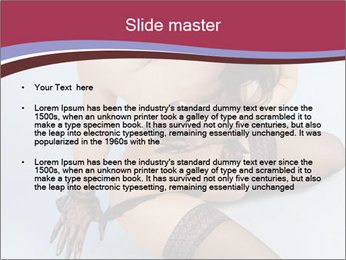 Naked Woman in Black Stockings PowerPoint Template