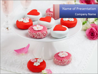 Valentine Cakes PowerPoint Template